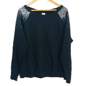Faded Glory | Black Sweatshirt with Sequins XL